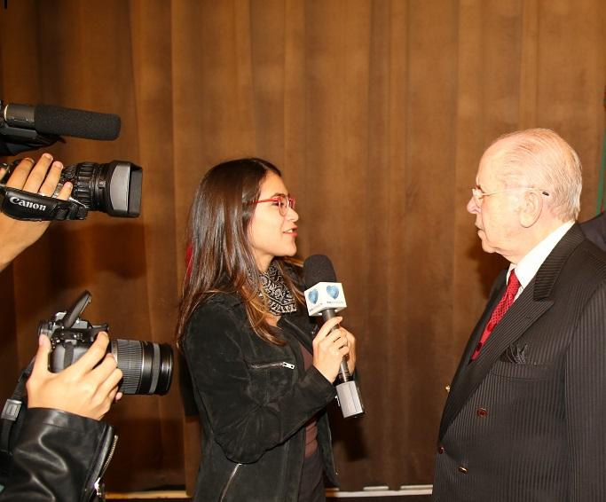 Ciro BAtelli dando entrevista para a TV Boa Vontade