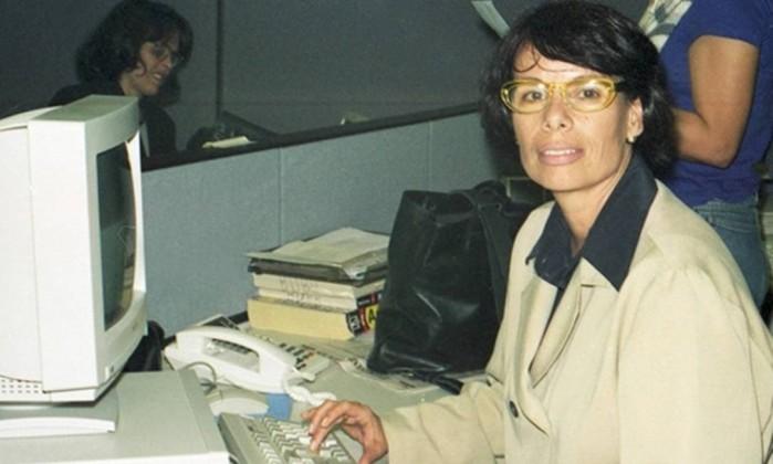 A jornalista Sandra Moreyra - Memória Globo reprodução